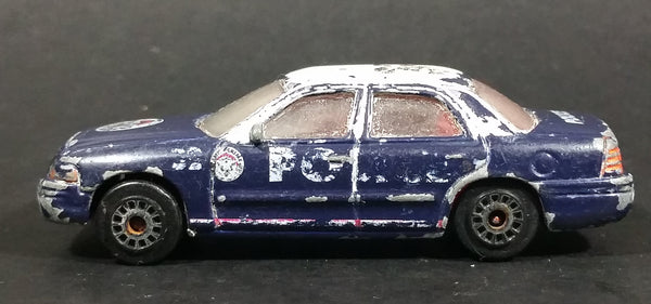 Realtoy Ford Crown Victoria Police Dark Blue and White Die Cast Toy Car Emergency Vehicle - Treasure Valley Antiques & Collectibles