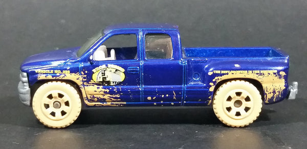 2008 Matchbox 1999 Chevrolet Silverado Truck Bros. Farms Blue Die Cast Toy Car Vehicle - Treasure Valley Antiques & Collectibles
