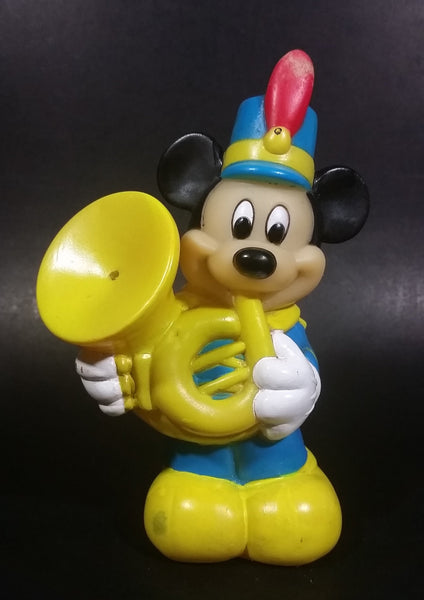 Vintage Arco The Walt Disney Company Mickey Mouse With a Tuba Rubber Squeezable Squirting Water Toy - Treasure Valley Antiques & Collectibles