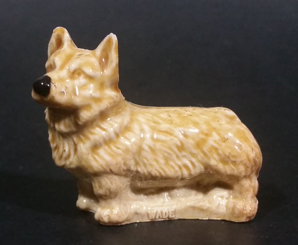 Vintage Wade Whimsies Corgi Dog Red Rose Tea Canada (Pin point chip on ear) - Treasure Valley Antiques & Collectibles