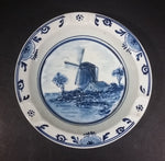 Vintage Delfts Holland Delft Blue White Raised Relief Round Windmill Ceramic Hand Painted Ash Tray - Treasure Valley Antiques & Collectibles