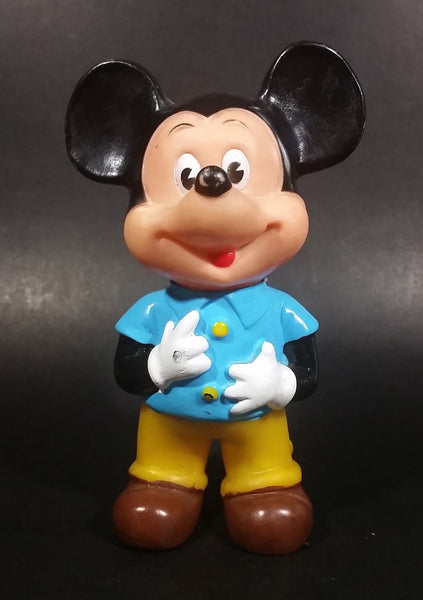 Vintage Walt Disney Productions Mickey Mouse Rubber Squeeze Toy with Turning Head - Made in Hong Kong - Treasure Valley Antiques & Collectibles