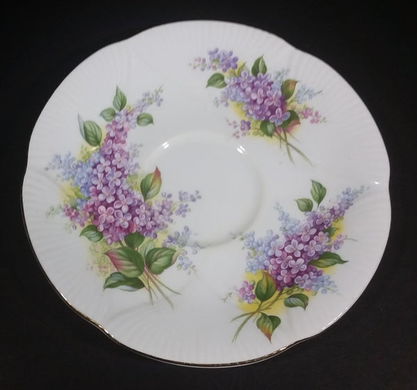 Vintage Royal Albert Blossom Time Series Lilac Purple Fine Bone China Tea Cup Saucer Plate - Treasure Valley Antiques & Collectibles