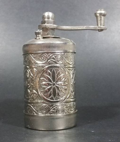 Vintage Acar Traditional Turkish Handmade Decorative Brass Pepper Corn Spice Mill Grinder - Treasure Valley Antiques & Collectibles