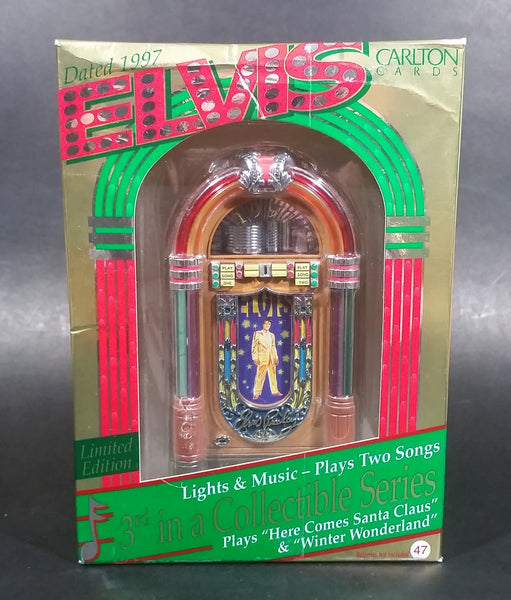 1997 Elvis Presley Lights & Music Limited Edition Jukebox - Plays Two Songs - Made by Carlton Cards