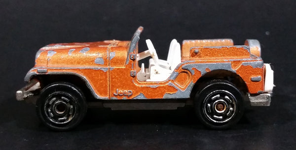 Vintage Majorette No. 268 Jeep Copper Orange 1:54 Scale Die Cast Toy Car Vehicle - Made in France - Treasure Valley Antiques & Collectibles