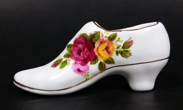 1960s Ashleydale England Fine Bone China Porcelain Collectible Decorative Shoe