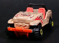 1996 Hot Wheels Street Eaters Trailbuster Tan Brown Die Cast Toy Car - Construction Tires - Treasure Valley Antiques & Collectibles