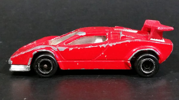 Vintage Majorette Lamborghini Red No. 237 1/56 Scale Die Cast Toy Dream Car Vehicle - Treasure Valley Antiques & Collectibles