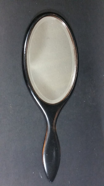 19th Century Handheld Black Wooden Shaker Mirror