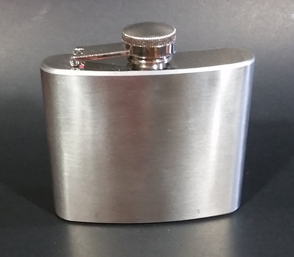 5 oz. Blank Curved Stainless Steel Pocket Flask