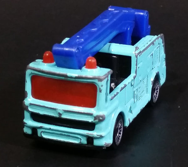 2002 Matchbox Snorkel Fire Truck Light Blue Die Cast Toy Car Vehicle McDonald's Happy Meal #4 - Treasure Valley Antiques & Collectibles