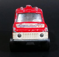 1980 Majorette Range Rover Rescue Team  Red No. 246 1/60 Scale Die Cast Toy Car Emergency Vehicle w/ Hitch