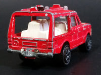 1980 Majorette Range Rover Rescue Team  Red No. 246 1/60 Scale Die Cast Toy Car Emergency Vehicle w/ Hitch - Treasure Valley Antiques & Collectibles