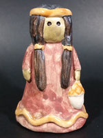 Hand Painted Small Native Girl Ceramic Figurine Numbered 14 - Treasure Valley Antiques & Collectibles