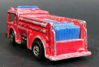 1982 Hot Wheels Fire Eater Red Fire Truck Die Cast Toy Car Vehicle - BW - Blue Lights - Treasure Valley Antiques & Collectibles