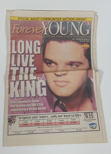 Forever Young Elvis Presley Long Live The King Newspaper Publication August 2002 B.C. Interior Edition