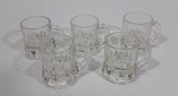 Set of 5 Vintage 1940s Clear Federal Mini Beer Mug Shot Glasses - Treasure Valley Antiques & Collectibles