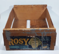 Vintage Rosy Brand Peaches Wooden Fruit Food Crate - Fresno, California - Treasure Valley Antiques & Collectibles