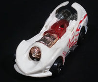1998 Hot Wheels G-Force Stunt Riders Power Rocket White Die Cast Toy Race Car Vehicle w/ Opening Canopy - Treasure Valley Antiques & Collectibles