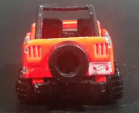 1996 Hot Wheels Baywatch Jeep CJ Bright Orange Die Cast Toy Car Vehicle - Treasure Valley Antiques & Collectibles