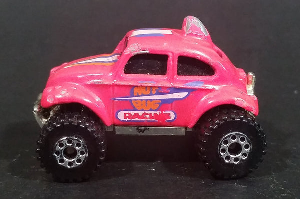 1988 Hot Wheels Color Racers VW Volkswagen Bug Pink Micro Tiny Die Cast Toy Car Vehicle - Treasure Valley Antiques & Collectibles