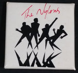 1985 The Nylons - One Size Fits All - Acappella Music Band Promotional Square Shaped Pin - Treasure Valley Antiques & Collectibles