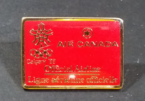 1988 Calgary Winter Olympics Air Canada Official Airline Red Pin Sports Collectible - Treasure Valley Antiques & Collectibles