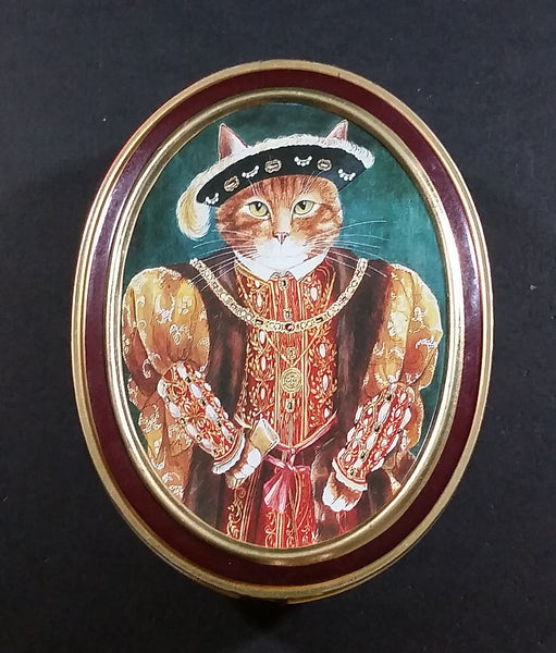 1990 Bentley's of London The Cat's Gallery Henry VIII Fruit Bon Bons Confectionery Tin Opened Still Full