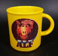Rare 1988 Allen Productions Alf Television Show Character Plastic Yellow Cup Made in West Germany