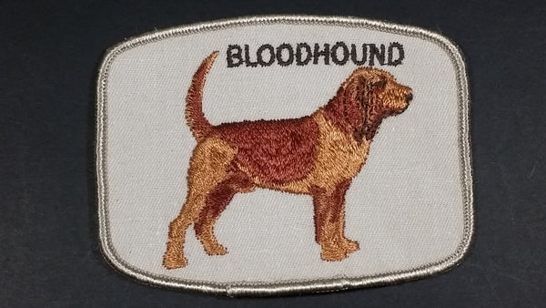 Embroidered Bloodhound Dog Sew on Patch
