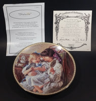"1993 Reco Sandra Kuck ""Sisters"" Decorative Collectible Plate #1061A w/ Certificate of Authenticity"