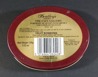 1990 Bentley's of London The Cat's Gallery Queen Elizabeth I Fruit Bon Bons Confectionery Tin Opened Still Full