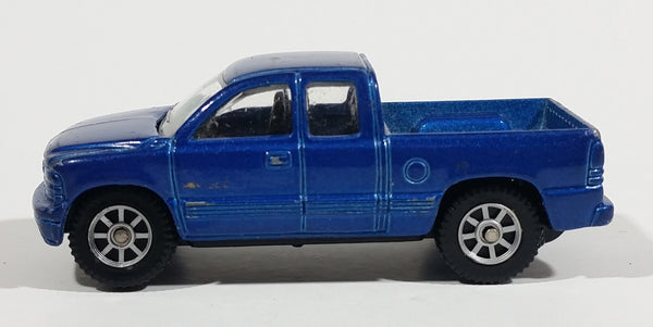 Maisto 1999 Chevrolet Silverado Extended Cab Pickup Truck Blue Die Cast Toy Car Vehicle - Treasure Valley Antiques & Collectibles