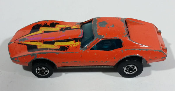 1980 Hot Wheels Chevrolet Corvette Stingray Orange Die Cast Toy Car Vehicle
