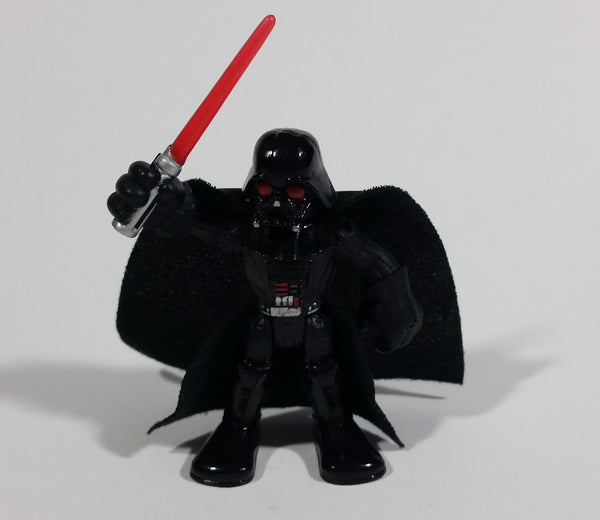"2011 Hasbro LFL Star Wars Darth Vader with Cape and Lightsaber 3"" Toy Figure Collectible - Treasure Valley Antiques & Collectibles"