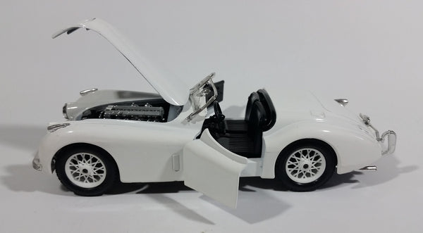Burago 1948 Jaguar XK 120 Convertible White 1/24 Scale Die Cast Model Toy Classic Car Vehicle - Missing Parts - Treasure Valley Antiques & Collectibles
