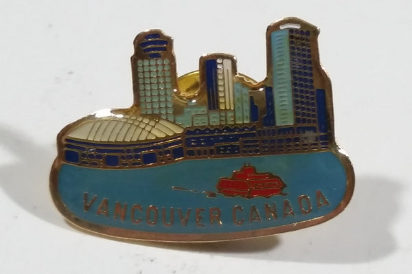 Vancouver Canada Downtown Waterfront BC Place Skyscrapers Ferry View Enamel Lapel Pin Souvenir Travel Collectible