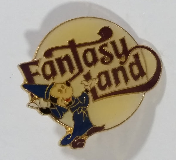 Vintage Walt Disney Fantasy Land Mickey Mouse Dressed as a Wizard Cartoon Character Pin - Treasure Valley Antiques & Collectibles