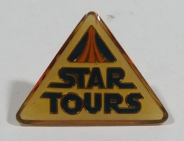 Vintage 1986 Star Tours Lucas Films Star Wars Disney Triangle Shaped Enamel Lapel Pin Collectible