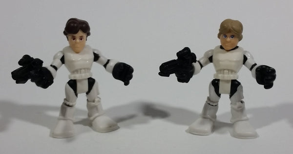 "2011 Hasbro LFL Star Wars Luke Skywalker & Han Solo 2 1/2"" Toy Figure Collectible Set of 2 - Treasure Valley Antiques & Collectibles"