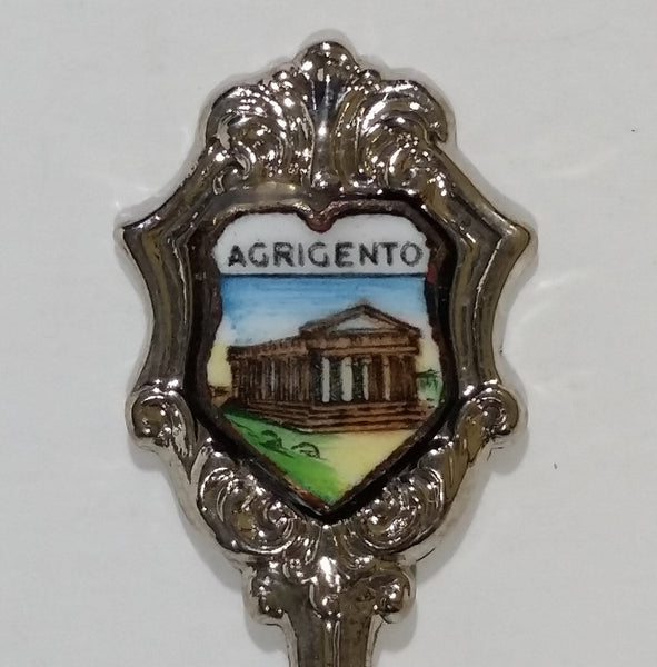 Agrigento Sicily, Italy Valle dei Templi Silver Plated Souvenir Spoon Travel Collectible - Ancient Greek Archaeological Site - Treasure Valley Antiques & Collectibles