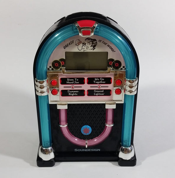 Vintage 1950's Style Soundesign Grease Is The Word! Jukebox Shaped Alarm Clock - Treasure Valley Antiques & Collectibles