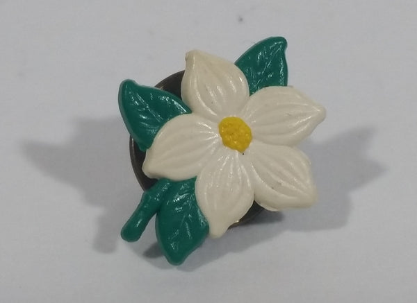 Dogwood Flower Small Plastic Lapel Pin