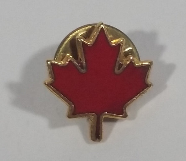 Small Red Maple Leaf Shaped Canada Enamel Lapel Pin - Treasure Valley Antiques & Collectibles