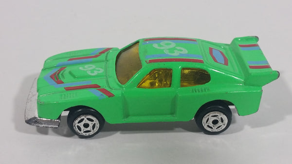 1980s Summer Marz Karz Ford Capri S8005 Green #93 Die Cast Toy Race Car - Treasure Valley Antiques & Collectibles