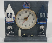 Vancouver Canucks NHL Ice Hockey Team Locker Room Style Resin Clock Sports Collectible