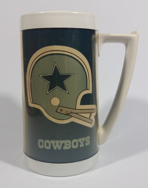 "Vintage 1976 Dallas Cowboys NFL Football Team 9"" Tall Plastic Beer Stein Drinking Cup Sports Collectible - Treasure Valley Antiques & Collectibles"