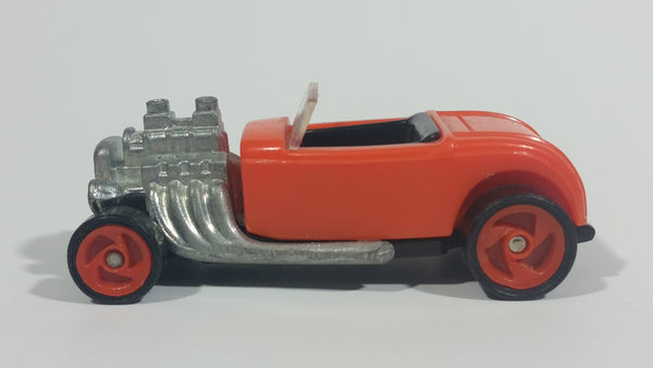 1996 Hot Wheels Roadster Flame Rider Orange Die Cast Toy Hot Rod Car Vehicle McDonald's Happy Meal - Treasure Valley Antiques & Collectibles