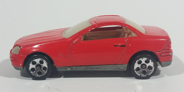 Rare 1997 Hot Wheels Mercedes SLK Red Die Cast Toy Car Vehicle - Hard to find